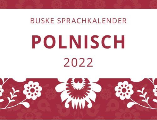 Buske Sprachkalender für Polnisch für 2022